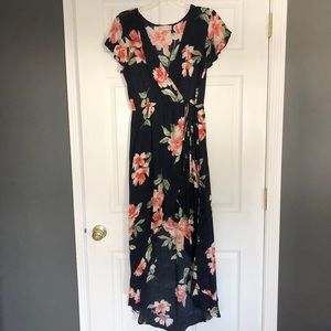 Altr'd State Navy Floral Hi-Low Dress Sz Small